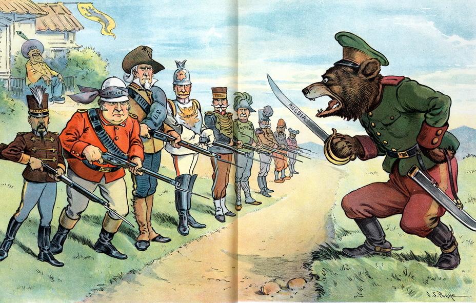 Российская империя глазами американских карикатуристов