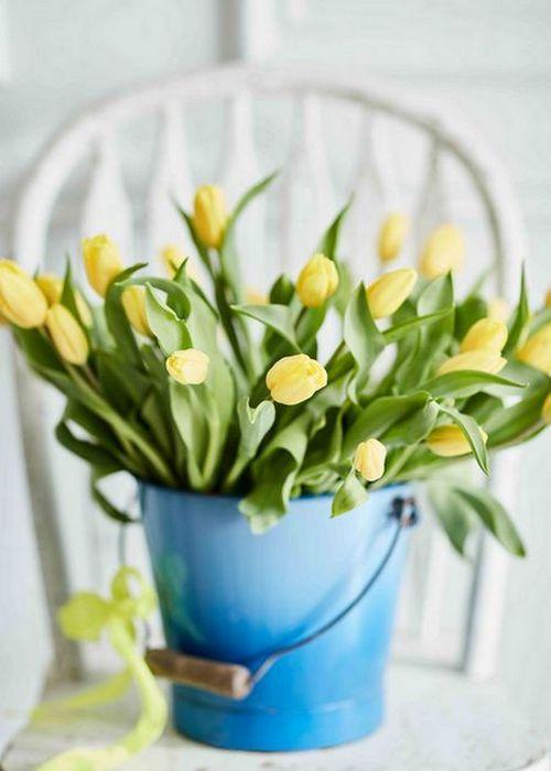 Весенние цветы в интерьере квартиры: «Тюльпановая лихорадка».