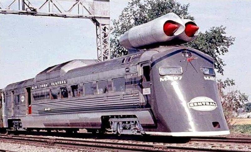 На реактивном двигателе вагоны, железнодорожные, изобретения, поезда, рельсы, факты, фантазии