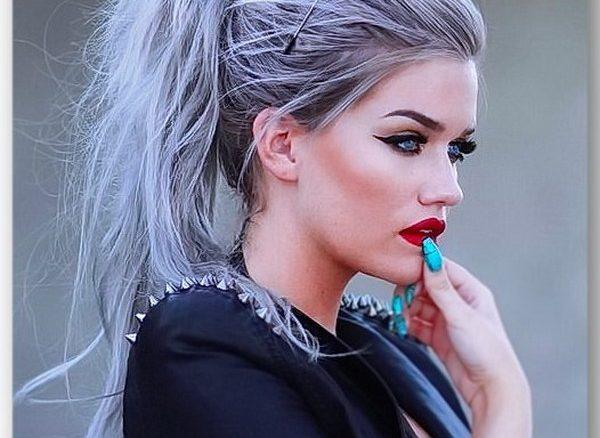 Мелирование волос в серый цвет