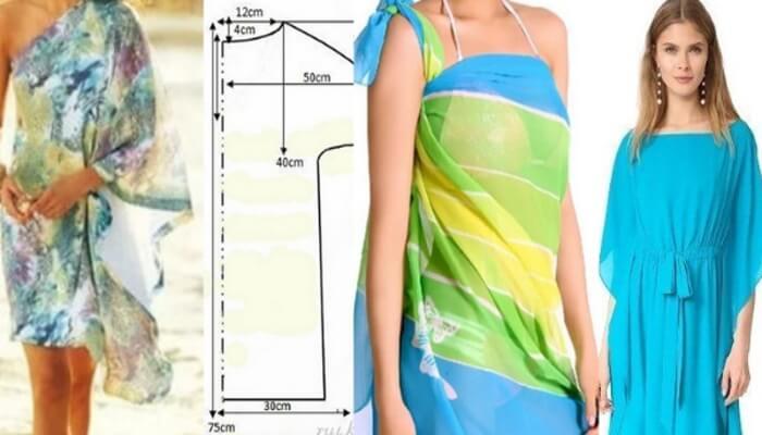 Пляжное платье своими руками: идеи и выкройки