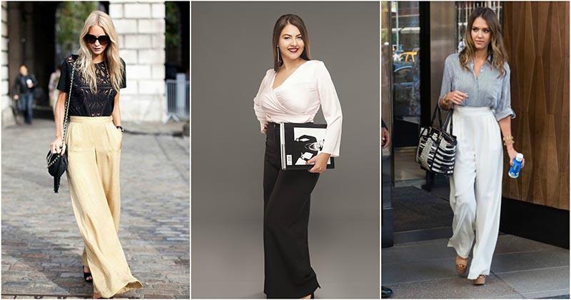 Брюки с завышенной талией — модные образы для элегантных женщин