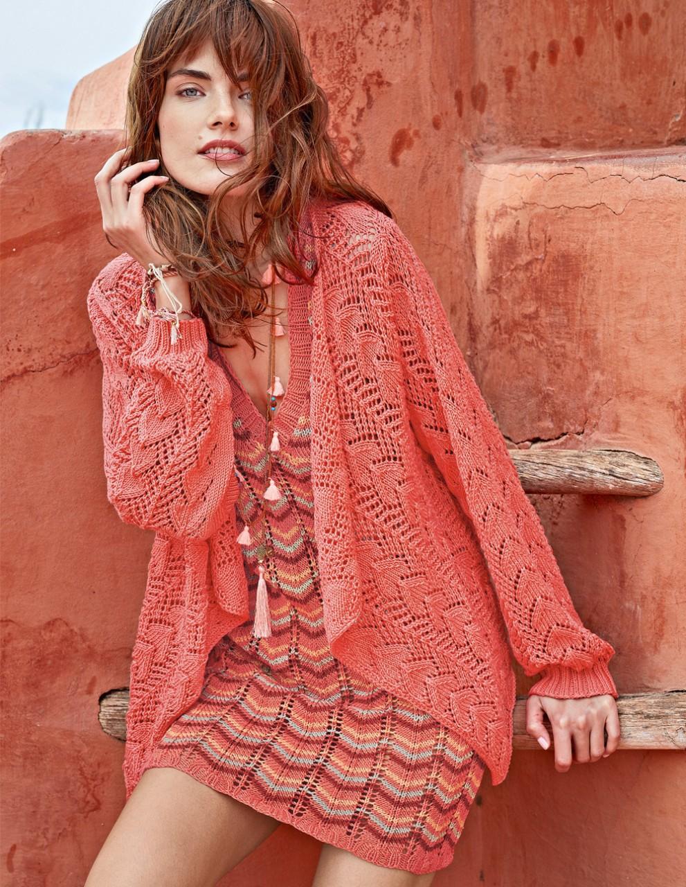 Платье с узором миссони и ажурный жакет