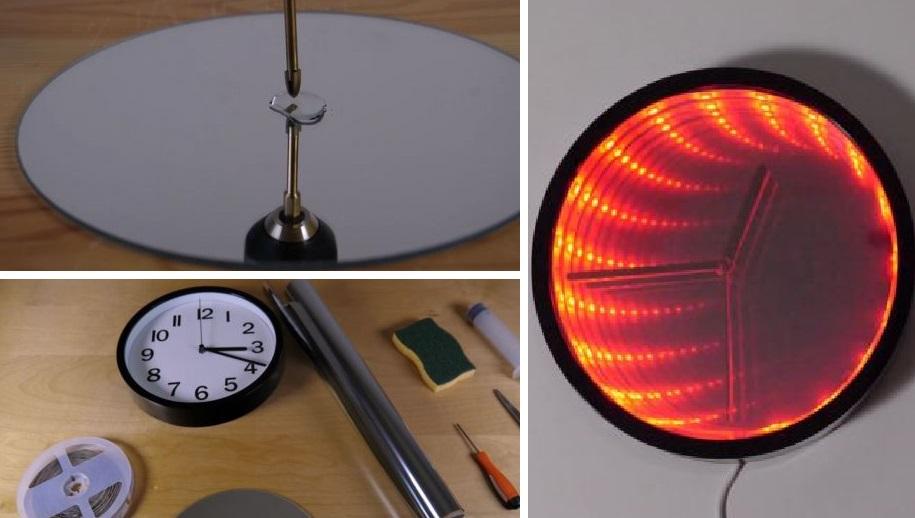 Эти часы похожи на портал в другую реальность! Их можно сделать из самых просты материалов