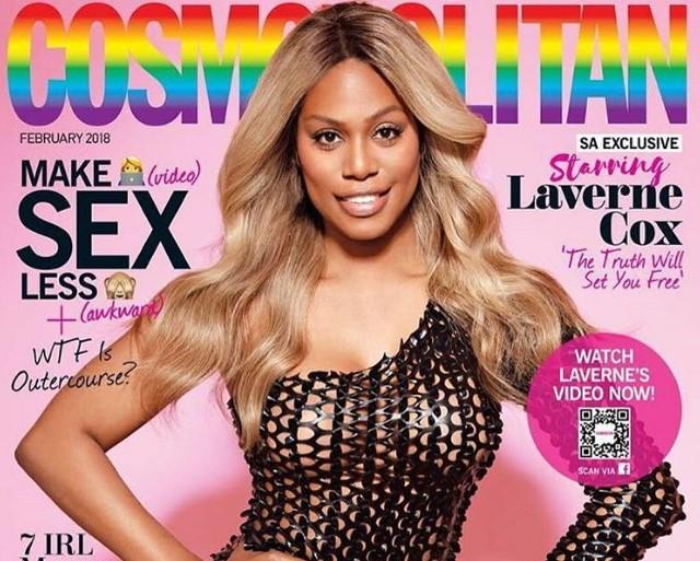 «Ко Дню святого Валентина»: на обложке Cosmopolitan впервые появилась трансгендерная женщина