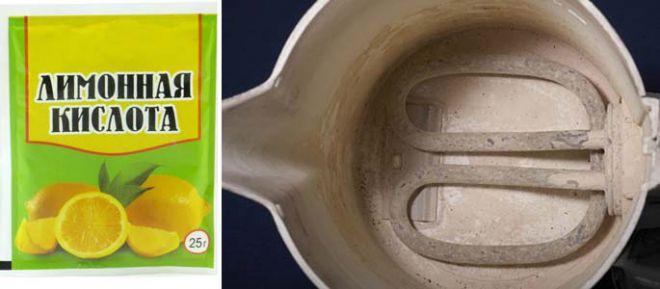 Как почистить чайник лимонной кислотой от накипи