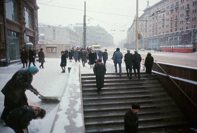 Улица Горького в Москве, 1966 СССР, история, фото