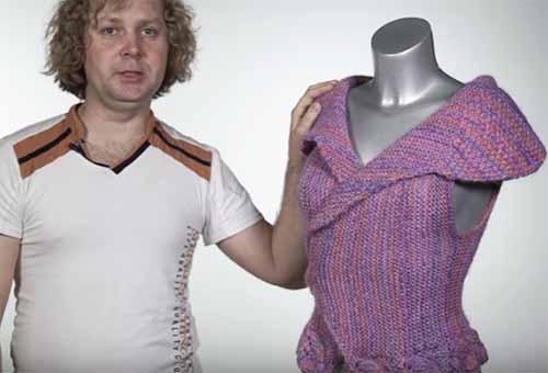 Видео урок по вязанию модного жилета