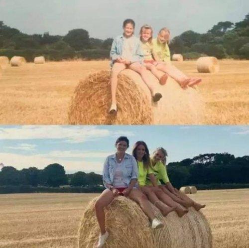Интернет-пользователи отправляются в прошлое, воссоздавая свои детские фотографии mir-interes.info