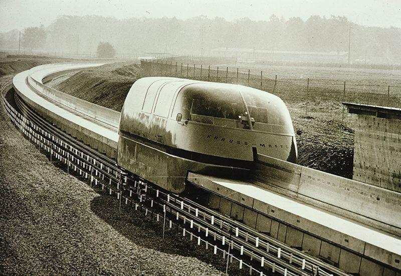 Поезд на магнитной подушке вагоны, железнодорожные, изобретения, поезда, рельсы, факты, фантазии