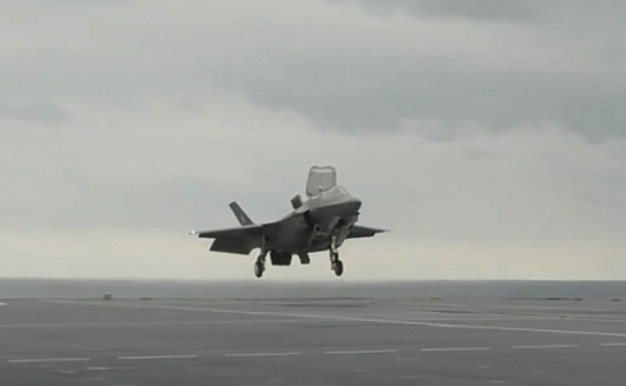 F-35B революционно сел