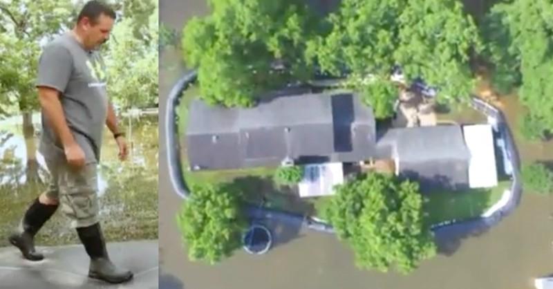 Житель Техаса потратил $8300 на пластик для спасения дома от наводнения