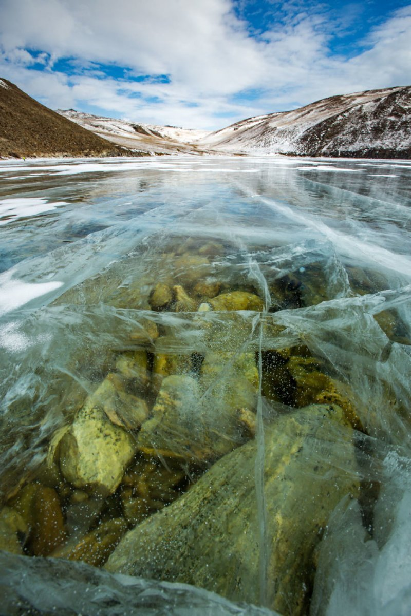 Подо льдом Зимняя сказка, байкал, зима, красота, лед, снег, фото, фоторепортаж