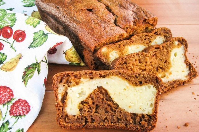 Тыквенный хлеб «Тыквянка» с творожным кремом и нежным вкусом