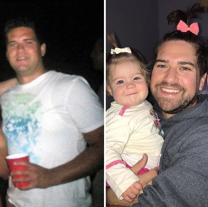 Люди со всего мира показывают свои фото до и после того, как они стали родителями