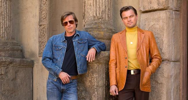 Минус двойной подбородок. Посмотрите, как киностудия тайно отфотошопила лица Питта и Ди Каприо в промо фильма Тарантино