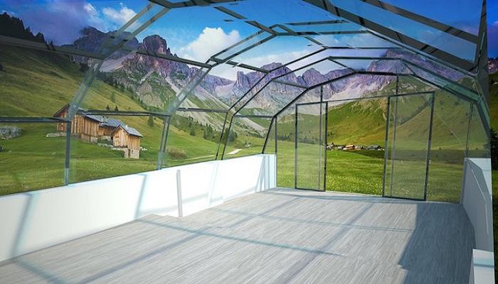 Конструкция имеет стальной каркас и многослойные стены, а также крышу из специального стекла («The Photon Space», Великобритания). | Фото: Grtjournal.com.