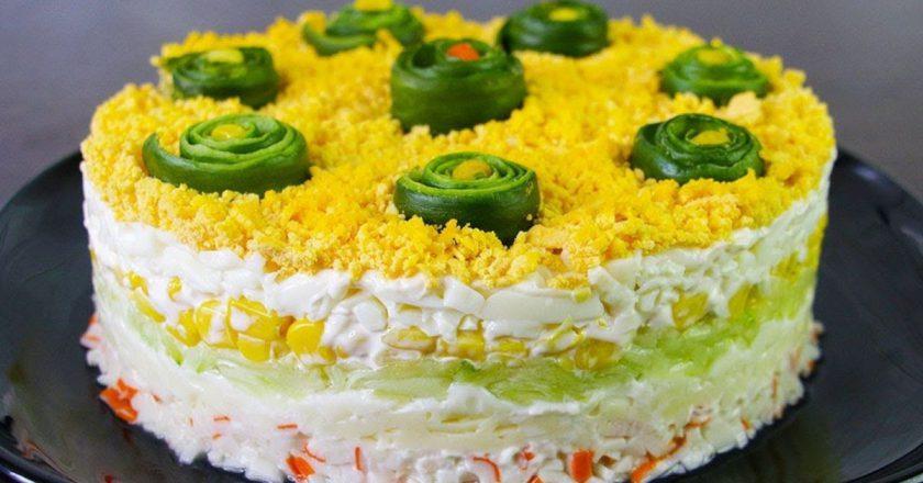 Мега вкусный салат «Свежесть»