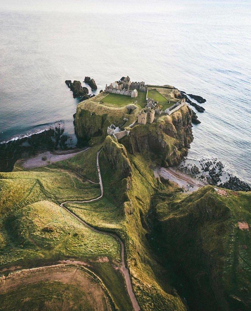 Dunnottar Castle, United Kingdom красивые места, мир, планета, природа, путешествия