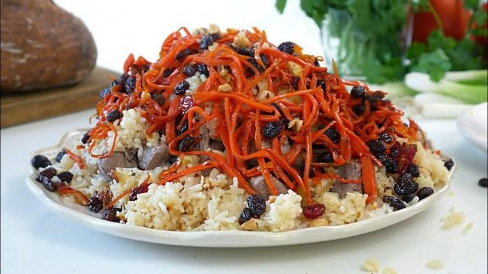 Плов по-афгански с мясом ягнёнка. Фото: youtube.com.