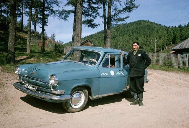 Водитель такси. Листвянка, 1964 СССР, история, фото