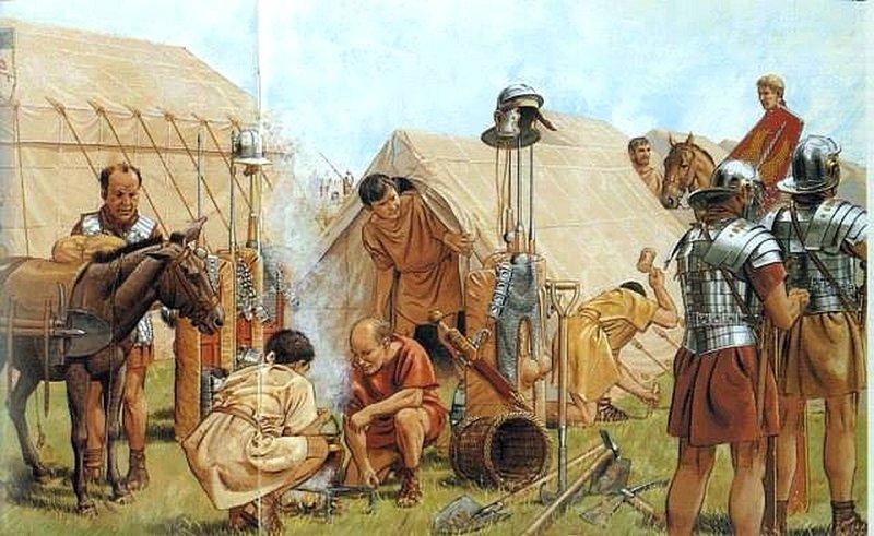 В римском войске солдаты жили в палатках по 10 человек. Во главе каждой палатки был старший, которого называли деканом. информация, картинки, факты