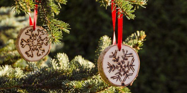 9 удивительных новогодних украшений, которые можно сделать своими руками идеи для дома,новогодние украшения,своими руками