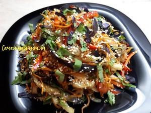 Салат из баклажанов по - корейски