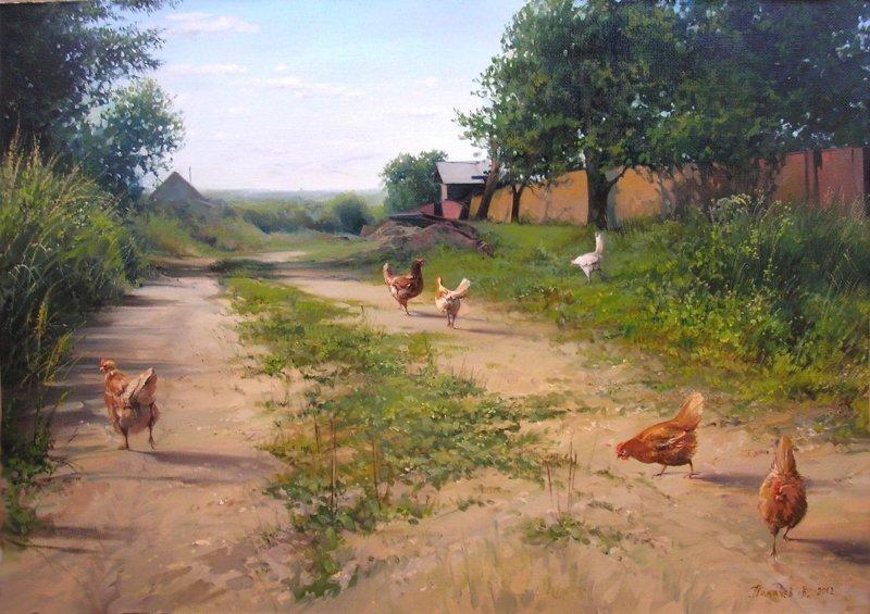 Удивительные картины российского художника, которые способны вернуть вас в детство вячеслав палачёв, искусство, картины, русская деревня, художник