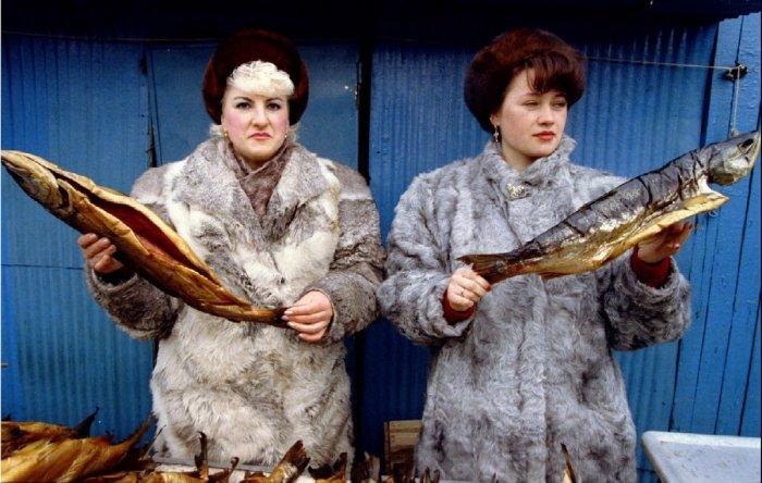Центральный рынок Петропавловска в марте 1993 года.