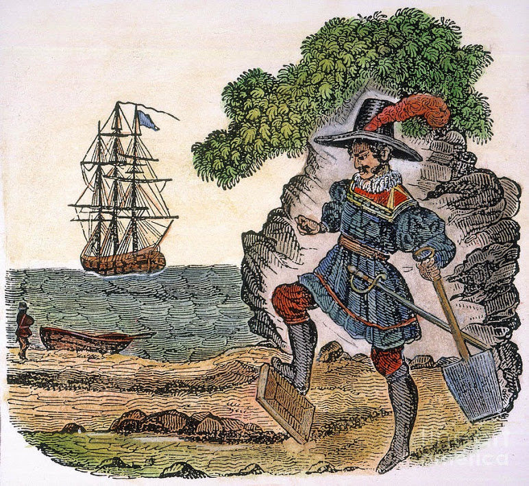 Проклятые сокровища пирата Уильяма Кидда продолжают искать и в наши дни