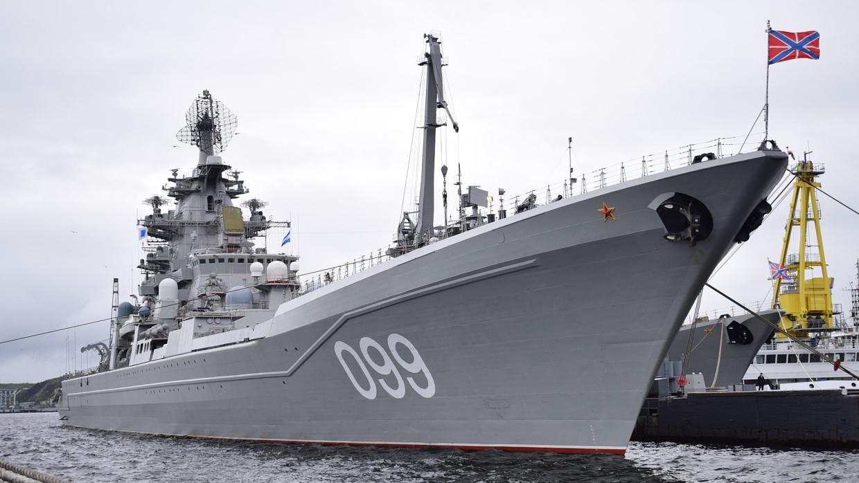 Атомный крейсер «Петр Великий» начал подготовку к главному военно-морскому параду Армия