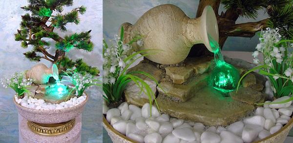 Создадим декоративный комнатный фонтан своими руками на радость всей семьи идеи