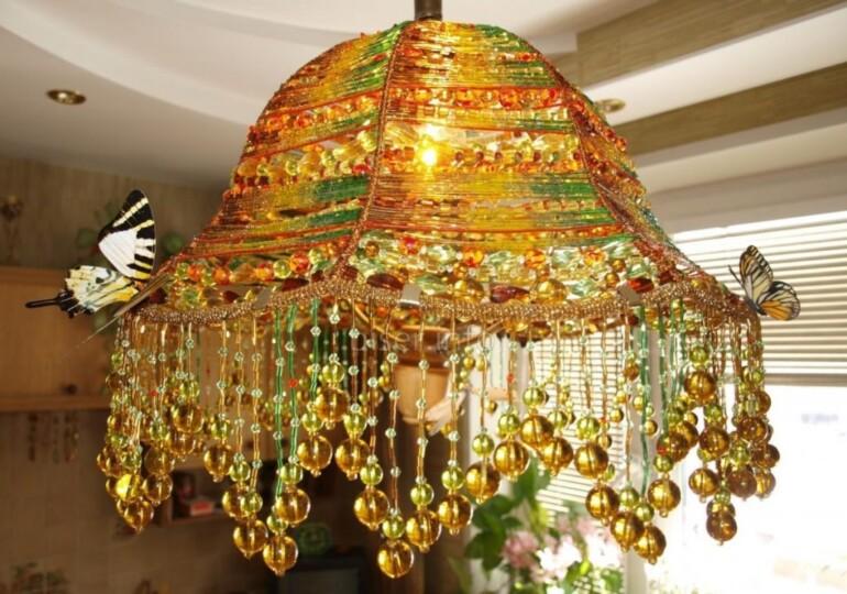 Изделия из бисера для оригинального декора гостиной