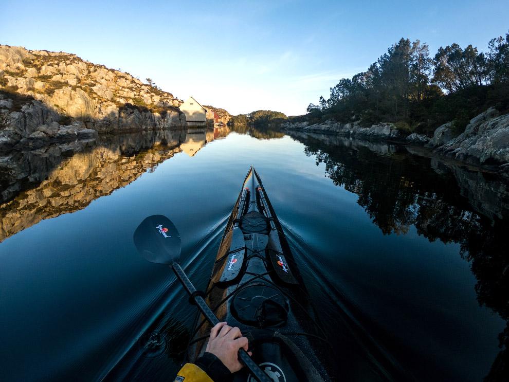 Прогулка на каяке по фьордам и озерам Норвегии