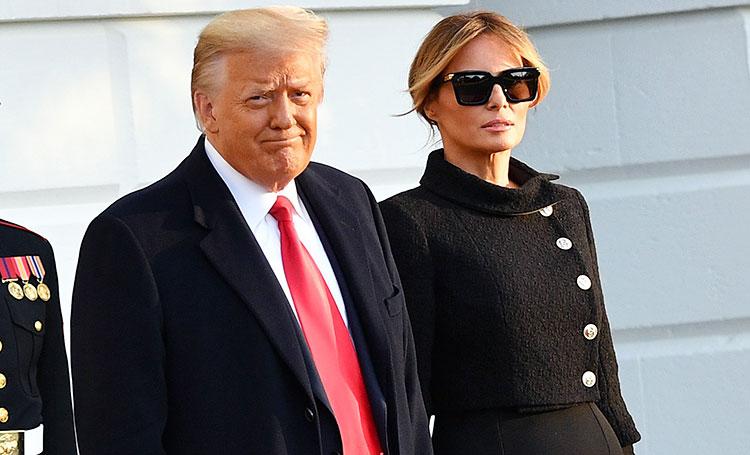 В траурных образах: Дональд и Мелания Трамп покинули Белый дом, не дожидаясь инаугурации Джо Байдена