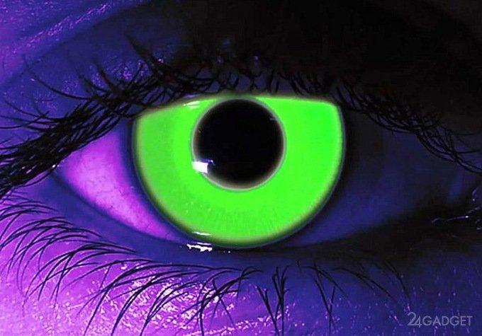 Светящиеся контактные линзы для людей с диабетом (2 фото)