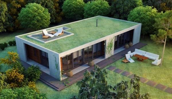 проекты красивых одноэтажных домов с эркером, фото 92