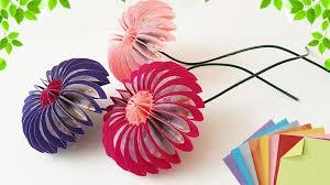 МК — делаем цветочки из бумаги в стиле оригами