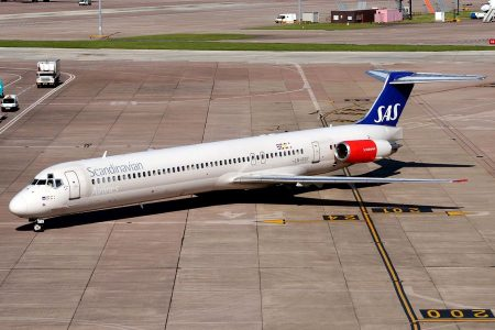 McDonnell Douglas MD-82 авиакомпании SAS Scandinavian Airlines