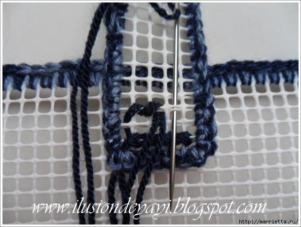 Сумка из пластиковой канвы женские хобби