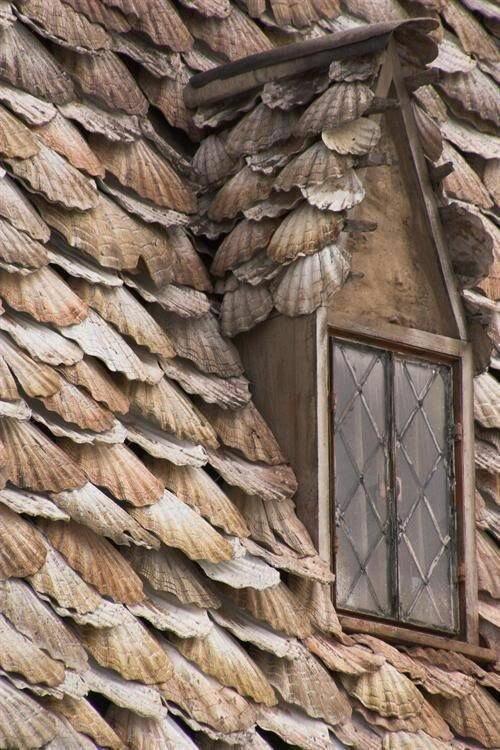 Крыша из ракушек Материалы, Фабрика идей, интересное, красиво, крыши, необычное, стройка