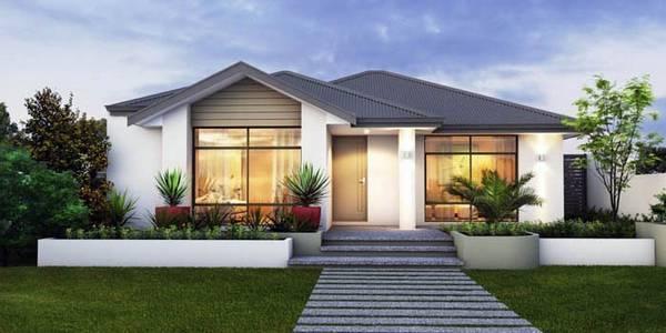 проект красивого одноэтажного дома с большими окнами, фото 83