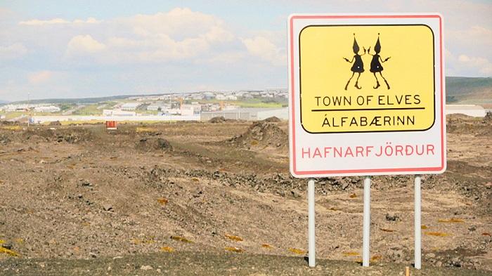 Знак, предупреждающий, что здесь поселение эльфов.