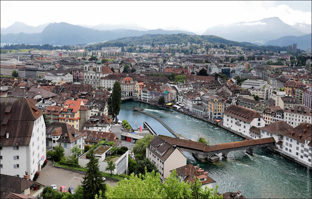 Мост Шпроербрюкке, Люцерн, Швейцария