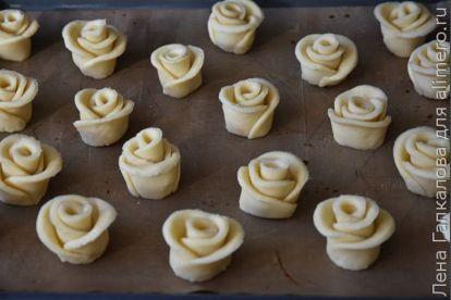 👌 Творожное печенье Розы к 8 марта