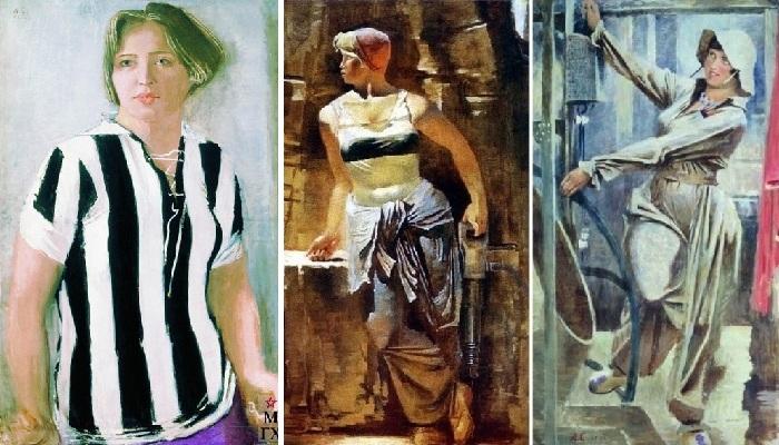 Советские женщины в творчестве А.Н.Самохвалова
