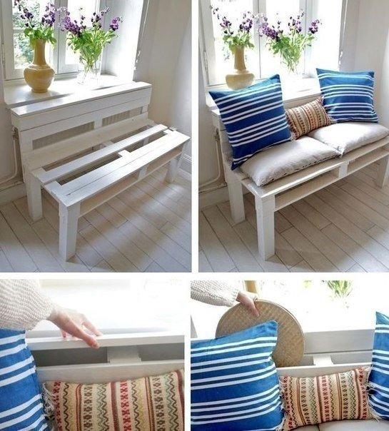 Уютный диванчик из паллеты своими руками.