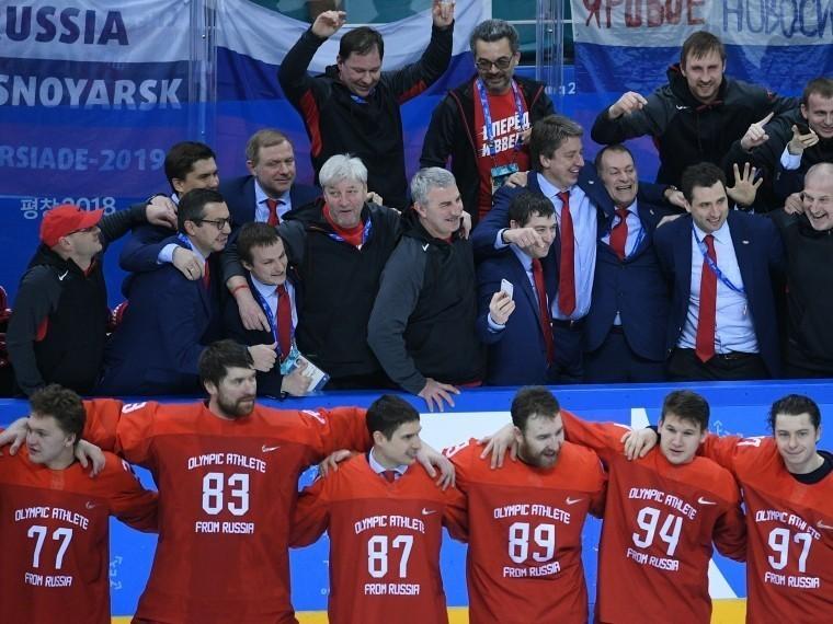 Российские хоккеисты спели государственный гимн при поддержке трибун вПхёнчхане