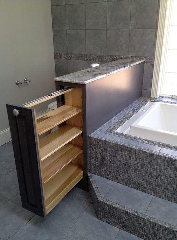 выдвигающаяся система хранения для ванной комнаты